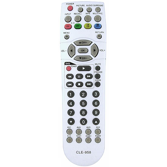 Free shipping original cle-967 universal cle-956 32pd5000 for hitachi plasma lcd tv dvd combo remote control(china